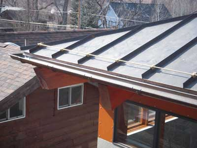 Raleigh Roofing And Restoration Copper Standing Seam Work