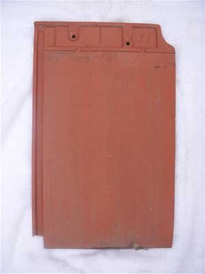Red Ludowici closed shingle tile